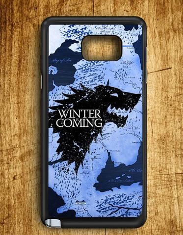 Winter Coming Map Game Of Thrones Samsung Galaxy Note 5 Case
