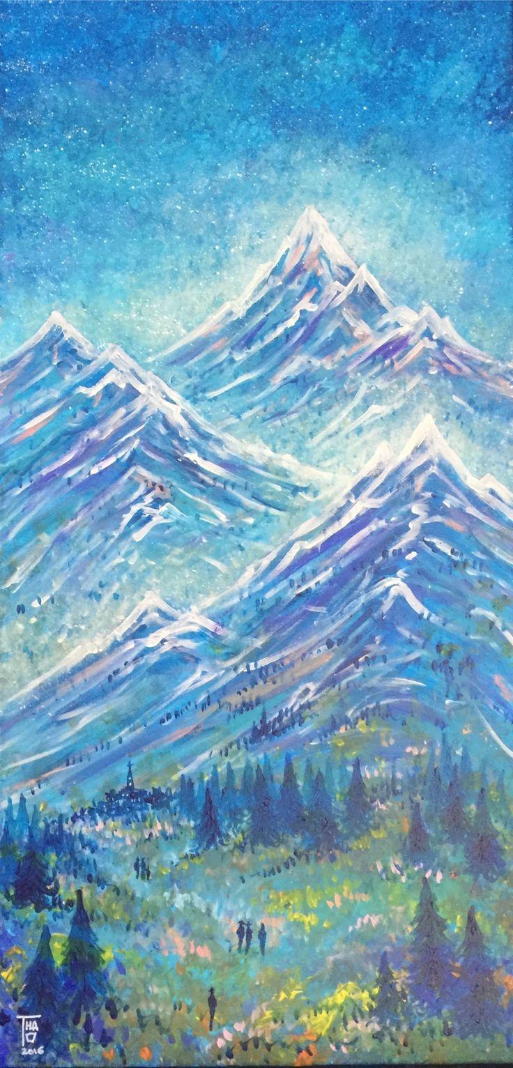 3 Mountains - Dec 2016 Acrylic - THAO - 80x40