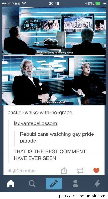 One of the best comments ever made on tumblr Republicans watching gay pride parade