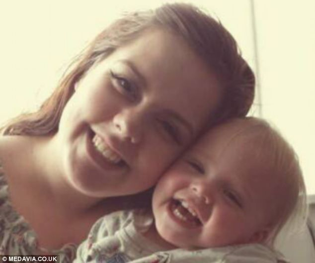 Amy McStein (pictured with baby Ava Grace), 22, was diagnosed with severe endometriosis when she was just 19 and was told she would need a h...