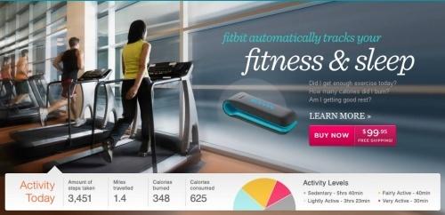 핏빗(fitbit) 트래커, 조깅한 양과 거리, 칼로리소모량과 체중변화까지 측정. 소셜미디어에 결과가 공유됨.     포스퀘어와 연동되는 '헬스케어'로 건강관리 해 볼까? ::: 베타뉴스