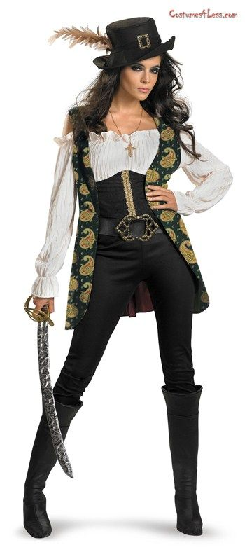Pirates Of The Caribbean - Angelica Deluxe Adult Costume at Costumes4Less.com
