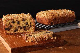 Peanut Butter Streusel-Banana Bread recipe