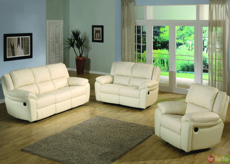 Best Baxtor Contemporary Faux Leather Reclining Sofa Set Can 640 x 480