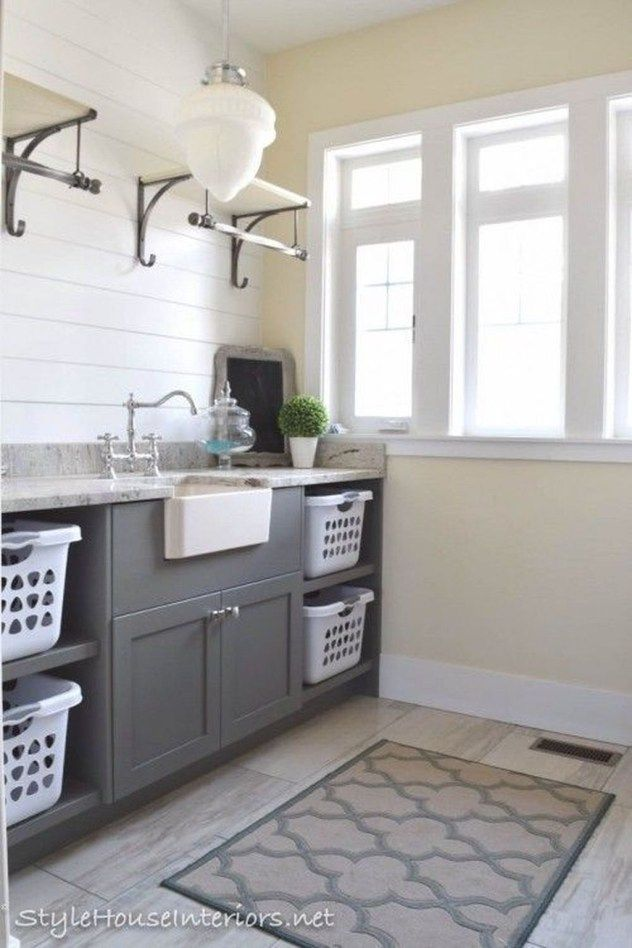 Like The Shelves With Hanging Bars Laundry Room Storage