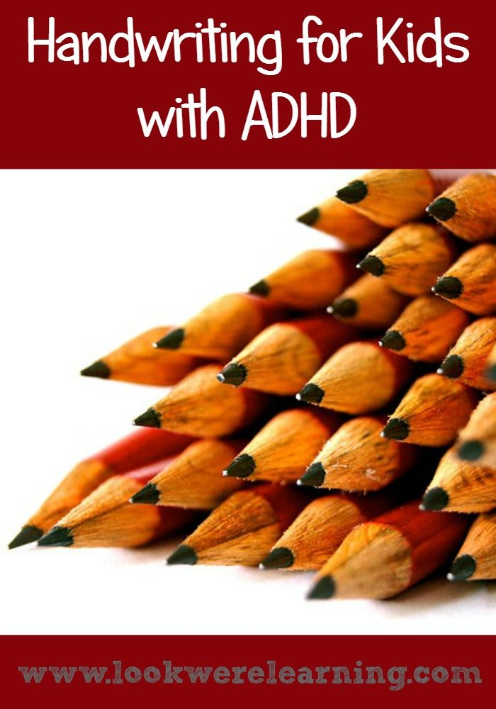 Children with ADHD often have trouble with handwriting. Use these suggestions to offer ADHD handwriting help to your kids! #adhd #adhdkids