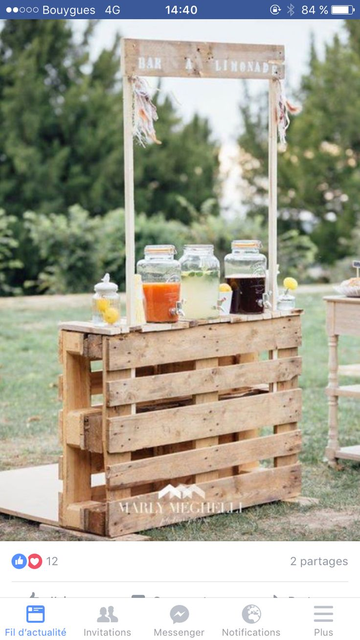 3 Home Decor Trends For Spring Brittany Stager: Drink Station Made With Wooden Pallets