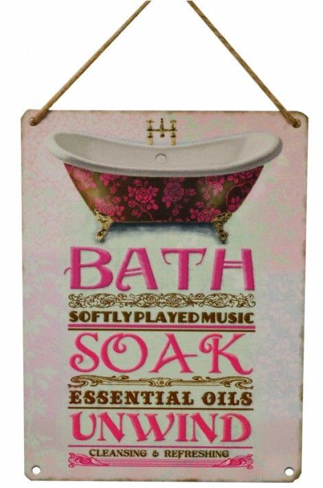 Bath Soak Vintage Metal Sign