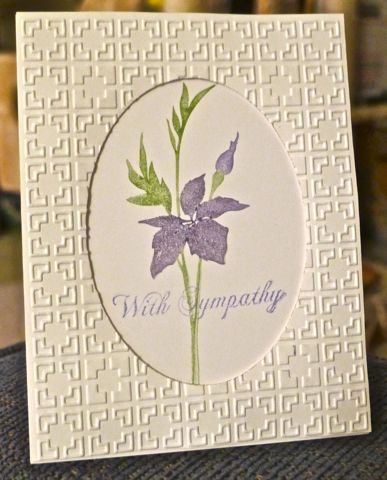 QFTD121 With Sympathy by hskelly - Cards and Paper Crafts at Splitcoaststampers