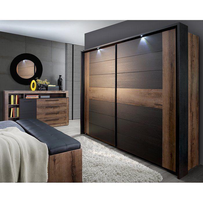 Home Loft Concept Believue Sliding 2 Door Wardrobe Wayfair Co Uk 2doorarmoirewardro Wardrobe Design Bedroom Bedroom Furniture Design Modern Bedroom Interior