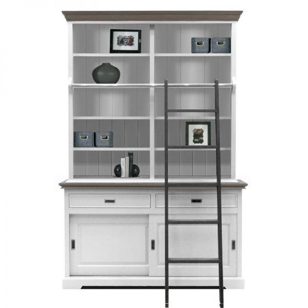 10 beste idee n over ladder boekenkast op pinterest boekenkast met ladder leunende planken - Model bibliotheek houten ...