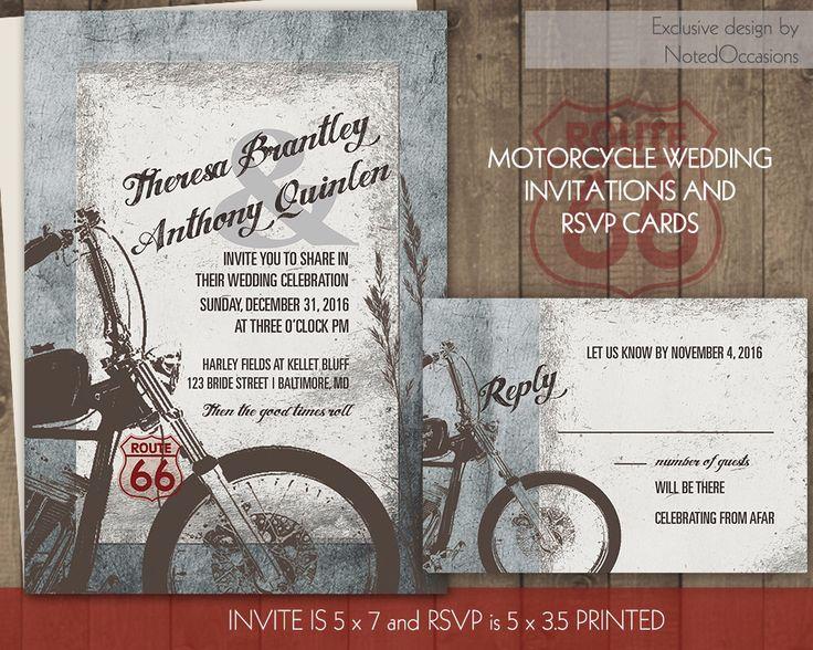 Motorcycle Wedding Invitation Biker Bride Wedding Invitations For Biker Harley Davidson Weddings