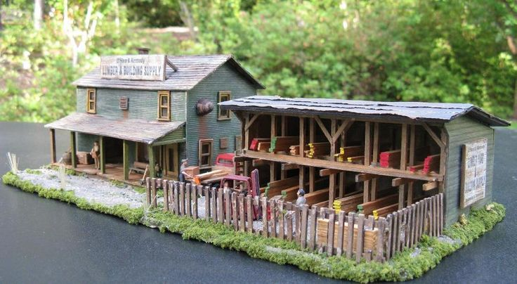 Ho Scale Steam Sawmill With Planer