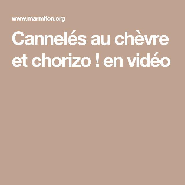 Cannelés au chèvre et chorizo ! en vidéo