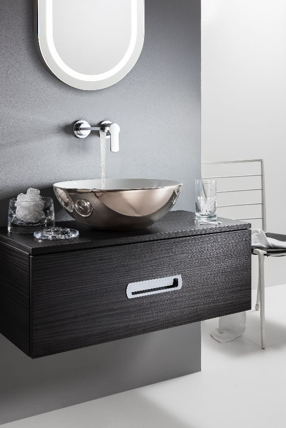 Perfect for those looking to create a statement in the bathroom - Castellon PLUS Platinum Basin from Bauhaus' Gallery Collection. http://www.crosswater.co.uk/product/basins-basins-browse-by-shape-round/castellon-plus-platinum-basin-ct0012bscp/