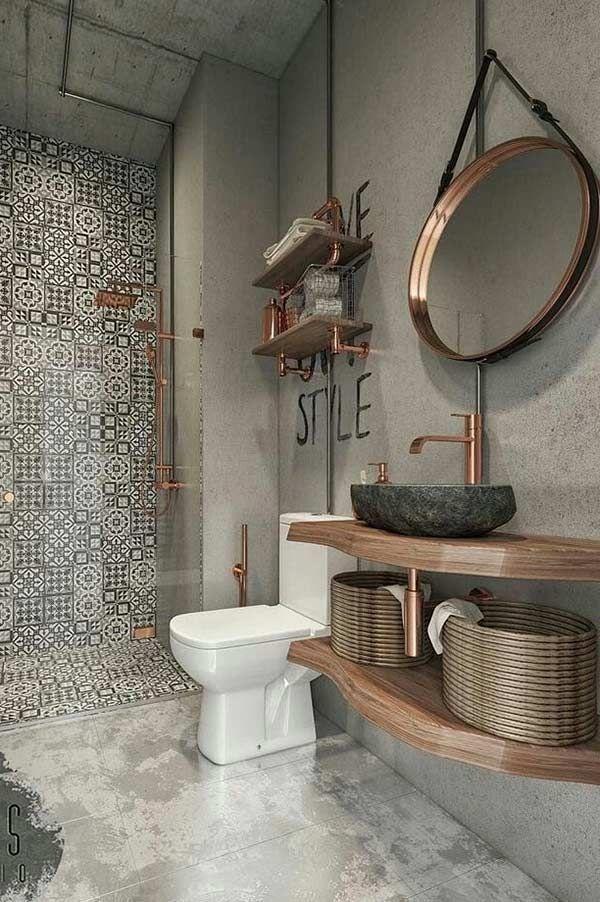 Delimite As Areas Do Banheiro Deco Salle De Bain Salle De Bain