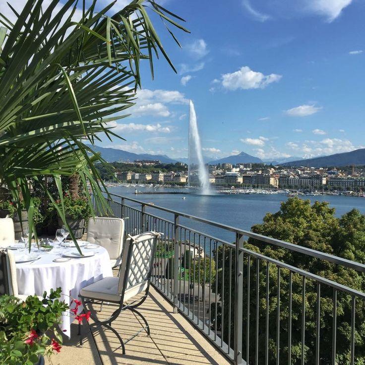 View from hotel richemond geneva gastronomy in the heart for Restaurant le jardin geneve