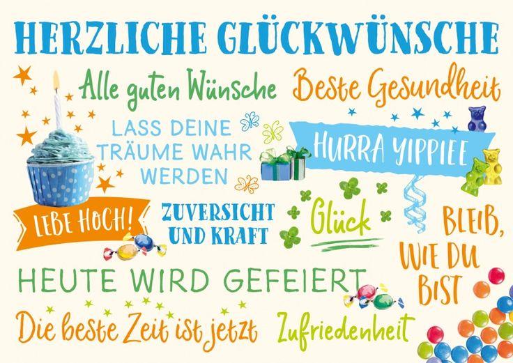 Nur das Beste | Happy Birthday | Echte Postkarten online versenden | Gutsch Verlag