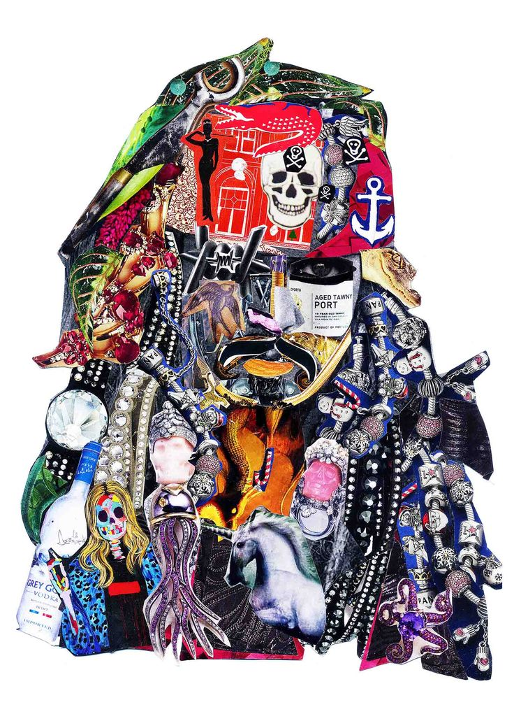 Jack Sparrow ( White ) - Collage Price£200.00 By Glil   Giclee print on fine art paper 300 gsm  Limited Edition of 33 per Size Hand Signed, Numbered & Unframed   Remarks Each print comes with Certificate of Authenticity (COA) and a small Gift from the artist