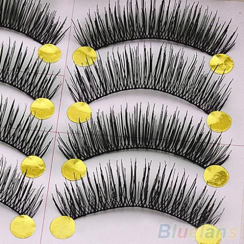 10 Paar Handgemachte Lange Dicken Quer Falsche Wimpern Make-Up Wimpern Verlängerung 2ICY