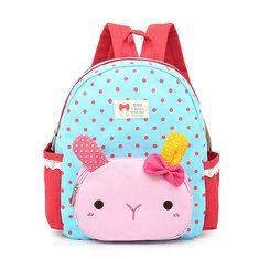#Banggood Симпатичный детский сад ребенок мультфильма кролика рюкзак холст свет школьная сумка (1097874) #SuperDeals
