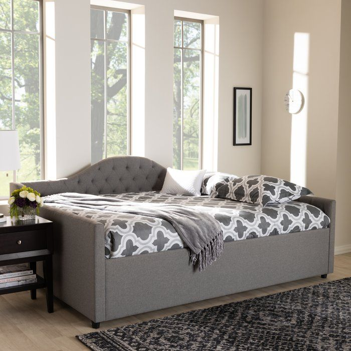 Zanowitz Daybed With Trundle Upholstered Daybed Daybed With Trundle Queen Daybed