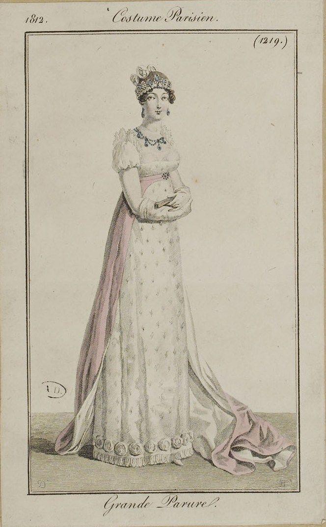 Französische und englische Modeteller von 1812. Alle Bilder stammen aus der Sammlung der Bibliothèque des Arts Décoratifs. www.lesartsdecoratifs.fr/f …