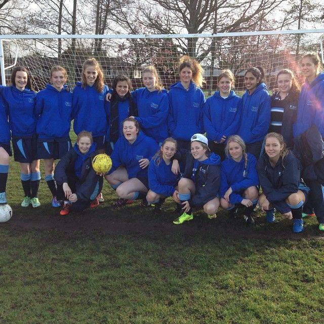 ACG Strathallan Girls First XI Football about to warm up for game against Melville.