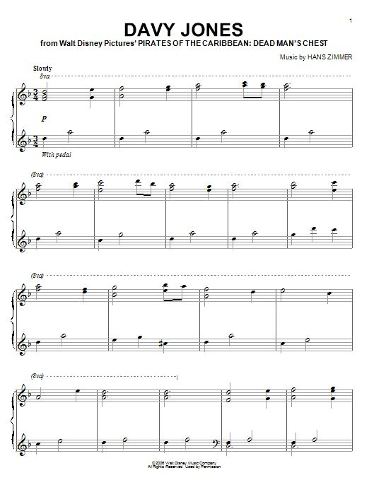 Pirates of the Caribbean - Davy Jones' Theme - Sheet Preview