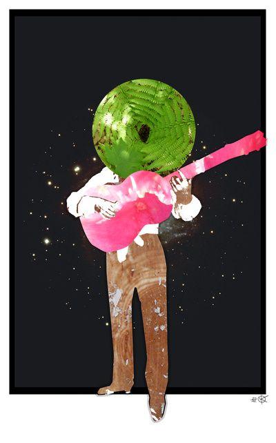 Guitar Man Collage