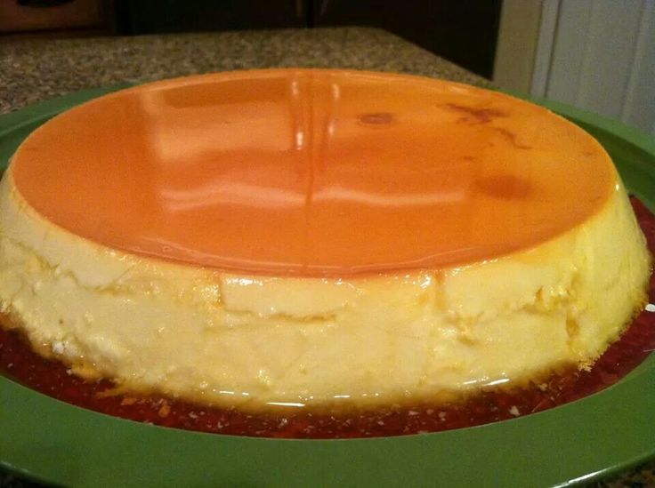 Creamy Caramel Flan by Carmen  Ingredients 3/4 cup sugar 1 package (8 ounces) cream cheese, softened 5 eggs 1 can (14 ounces) sweetened condensed milk 1 can (12 ounces) evaporated milk 1 teaspoon vanilla extract  Directions In a heavy saucepan, cook and stir sugar over medium-low heat until melted and golden, about 15 minutes. Quickly pour into an ungreased 2-qt. round baking or souffle dish, tilting to coat the bottom; let stand for 10 minutes. In a bowl, beat the cream cheese until…