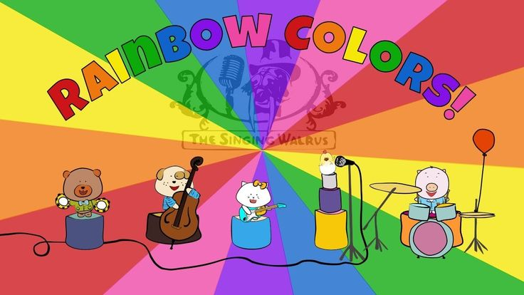 Rainbow Colors - song for kids - The Singing Walrus