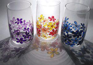 üvegfestés - poharak
