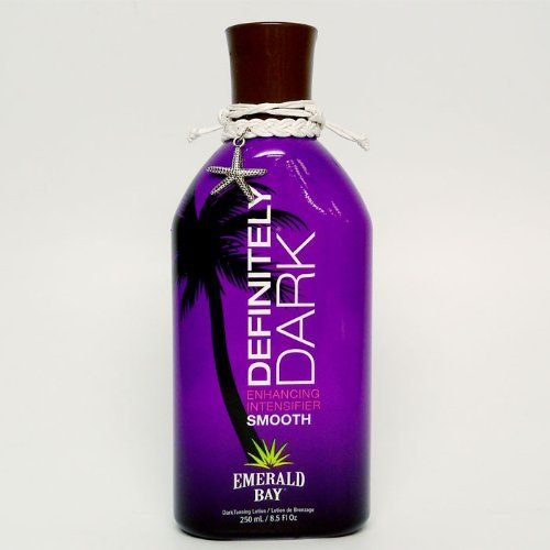 Emerald Bay Definitely Dark Smooth Tanning Lotion 8.5 oz. by Emerald Bay. $8.50. Rich formula lavishes the skin with moisture and botanicals for dark results.. Definitely Dark is a hydrating, silky smooth lotion that enhances the tanning process indoors or out. Tan Enhancing Recipe, 9 oz Pineapple Smoothie fragrance. Save 53% Off!