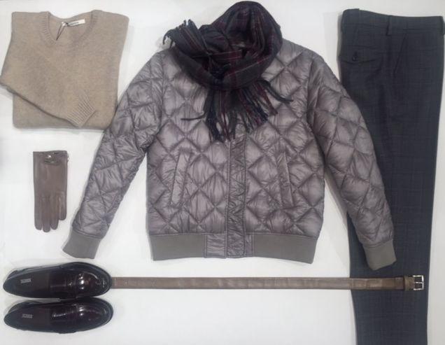 Jubii.....Nu er det efterår. Masser af skønne varer #Closed quiltet bomber jakke og loafers #Sibenlinnebjerg strik i cashmere merino #Sand ternet bukser #Mulberry handske www.FLOT.nu