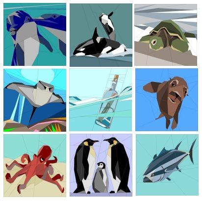 Oceans Quilt A Long 2015 Paper Piecing Patterns quiltartdesigns.blogspot.com