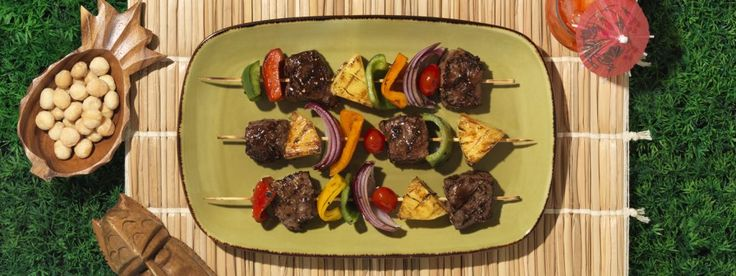 Bring summer into the house with these fresh grilled steak, pineapple and mixed pepper kebabs. Get started with Soy Vay's collection of tasty recipes!