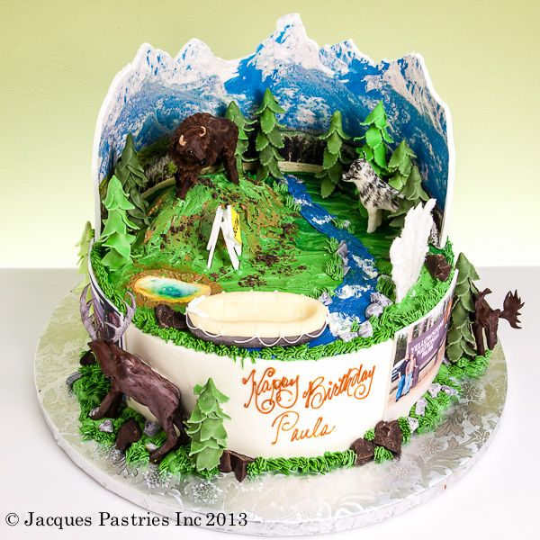 Hiking Cake: Cakes - Sports And Outdoor Activity