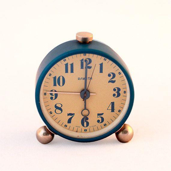 Blue Rocket Alarm Clock by ProsteRzeczy on Etsy, zł49.00