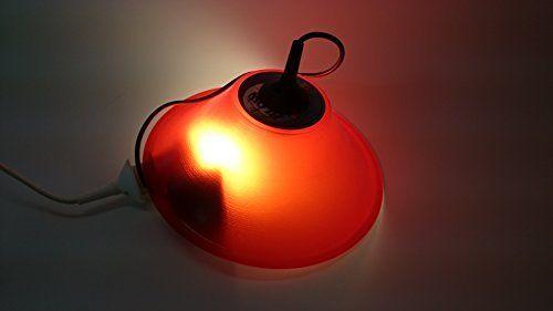 Deckenlampe Lampenschirm rot hergestellt aus original Vinyl Schallplatte