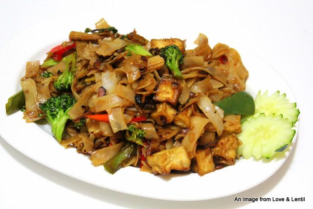 Vegetarian Drunken Noodles. This looks like the one we are going to try first.
