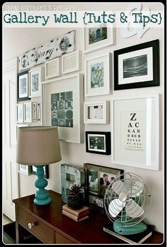 Gallery wall. The Mirror And The Drape: Confessions of a Design-a-Holic