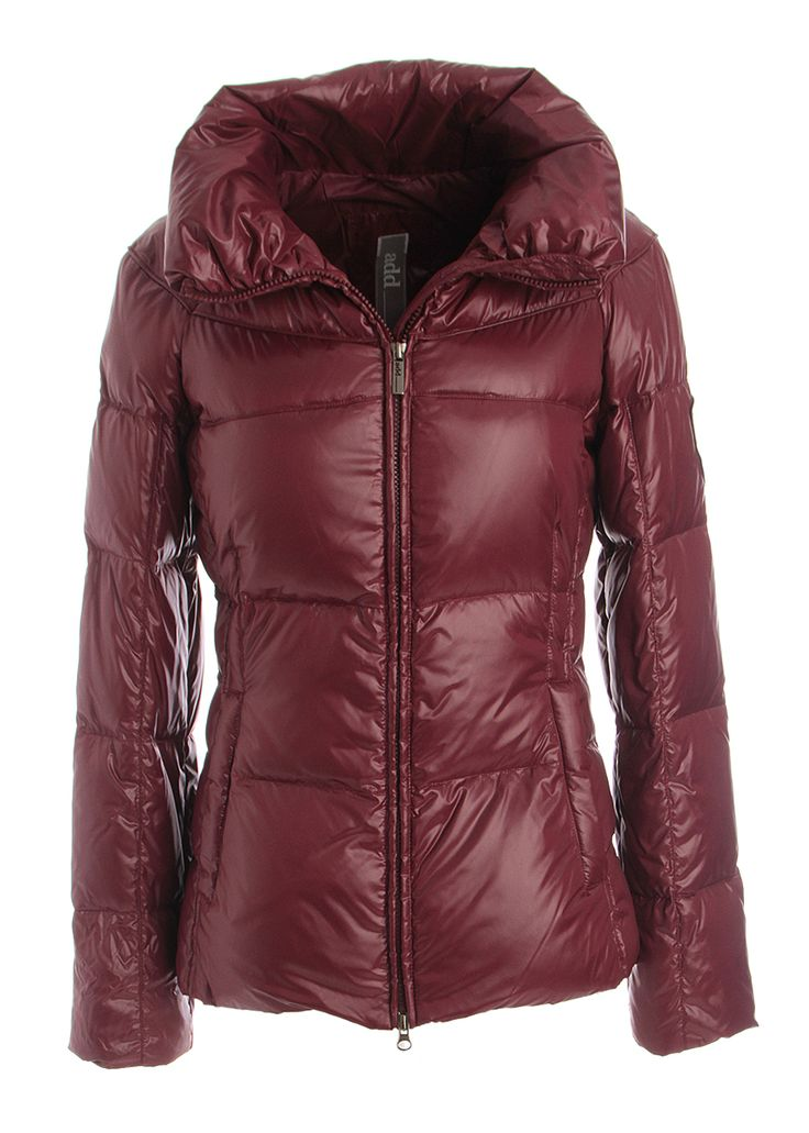 Woman burgundy quilted coat, ADD on www.piustyle.com