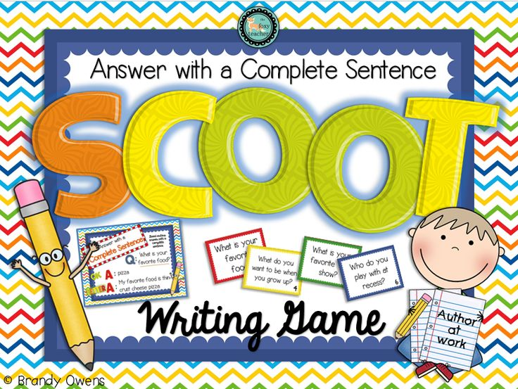 Answer with a Complete Sentence SCOOT Writing Game.  Use as SCOOT game or as writing task cards for centers or small group.  Teaches students to respond in the form of a question, a crucial test-taking skill as students approach high-stakes testing in upper primary grades.