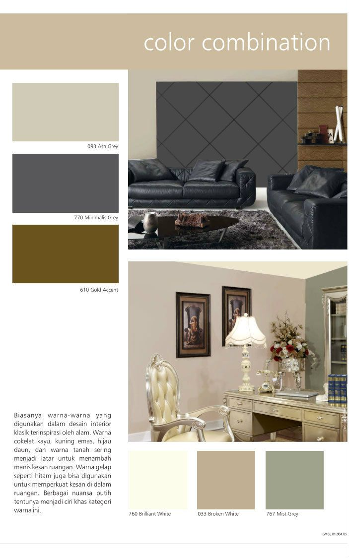 Create a lux, elegant, yet simple home living room interior design by combining Ash Grey, Minimalist Grey, & Grey Accent. #HiyotoIdea  #homedesign #homedecor #housedesign #housedecor #interiordesign #livingroom #wallpaint #sanlex #sanlex6000
