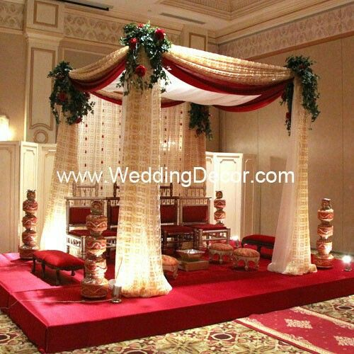 Hindu Wedding Altar: 14 Best Images About Wedding Decorations Red On Pinterest