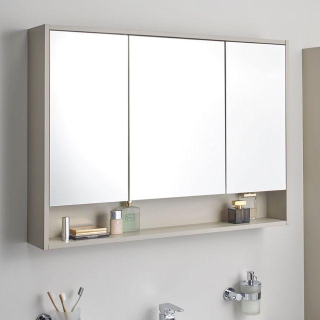 Vitra Integra Large 100cm Mirror Cabinet Mirror Cabinets Bathroom Mirror Storage Large Bathroom Mirrors