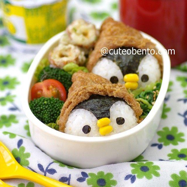 日本人のごはん/お弁当 Japanese meals/Bento. ペンギン弁当 maki ogawa @cuteobento Penguin Onigiri B...Instagram photo   Websta (Webstagram)