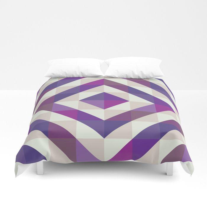 Patchwork Purples Duvet Cover by Fimbis    Ultra violet, purple, interior design, home decor, fashionista, symmetry, fashion,