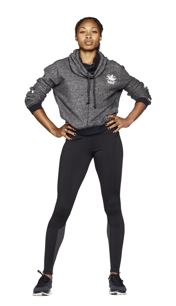 Sprinter Allyson Felix in a customized USATF Stanton Hoodie. #teamnike #athlete